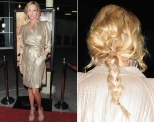 Uma Thurman plaited hair