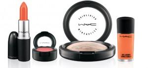 MAC orange lipstick