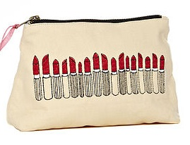Lipstick pouch, £28, by Sewlomax