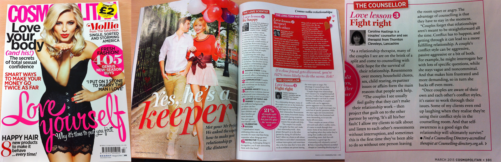 Counselling Directory featured in Cosmopolitan magazine