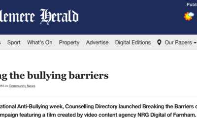 Breaking the Barriers of Bullying campaign video featured in Haslemere Herald