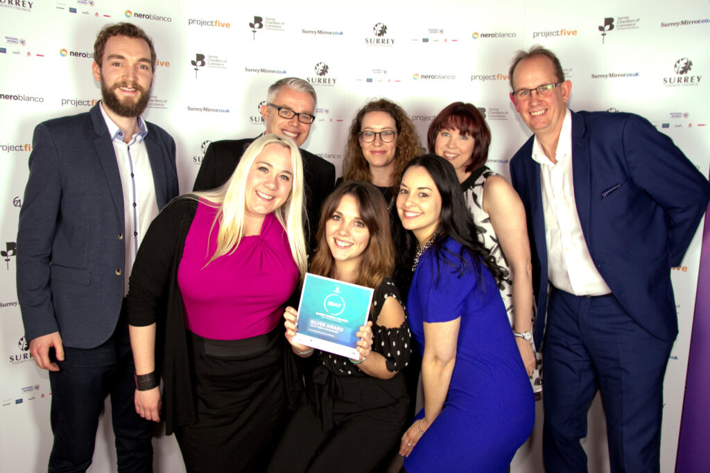Counselling Directory team at Surrey Digital Awards 2017.