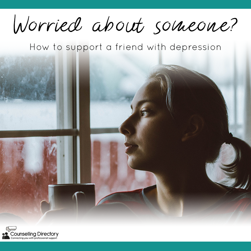 worried about a friend? supporting someone with depression