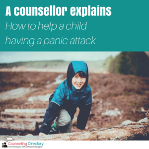 A counsellor explains: how to help a child having a panic attack