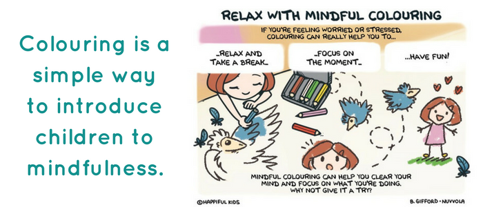 relax with mindful colouring