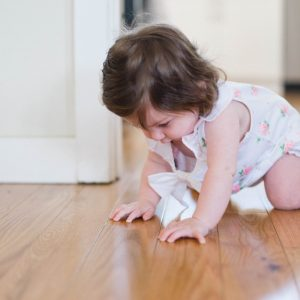 child learning to crawl