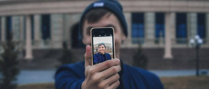 Man taking picture of himself