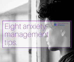 eight anxiety management tips