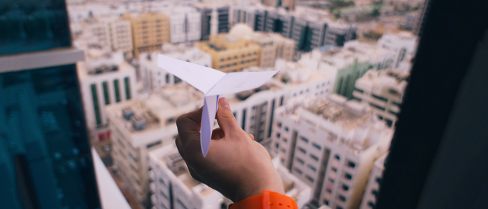 Fear of flying - paper airplane