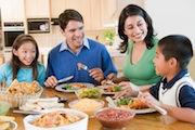 Eating as a family unit can help to prevent eating disorders in teenagers