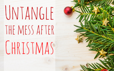 Untangle the mess after Christmas