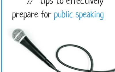 How to effectively prepare for public speaking
