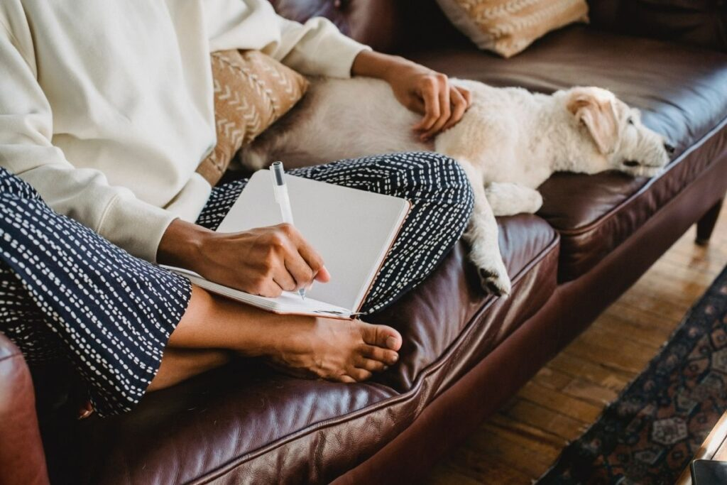 Woman planning goals