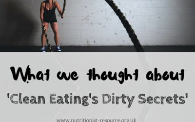 "Our discussion: ""Clean Eating's Dirty Secrets"""
