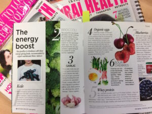 We're featured in Natural Health magazine
