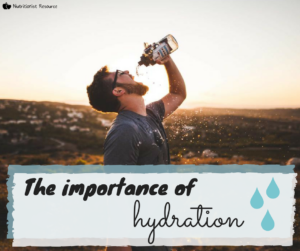 the importance of hydration - nutritional therapy