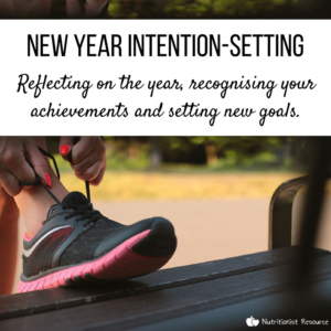 New year intention-setting