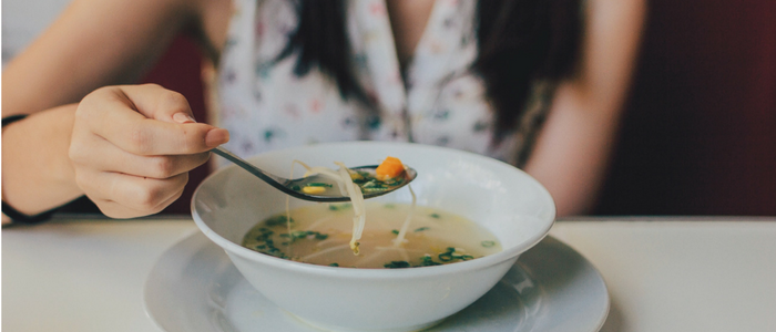 Image of soup in a bowl
