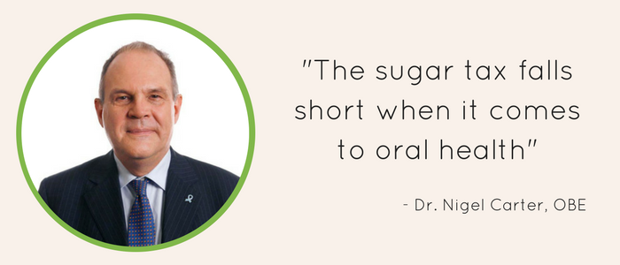 Dr Nigel Carter, OBE commenting on Sugar Tax and impact on oral health