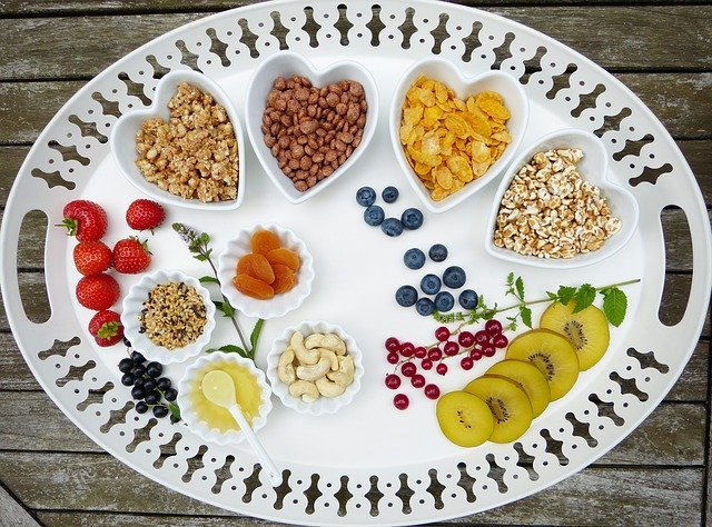 A tray of healty vegan foods