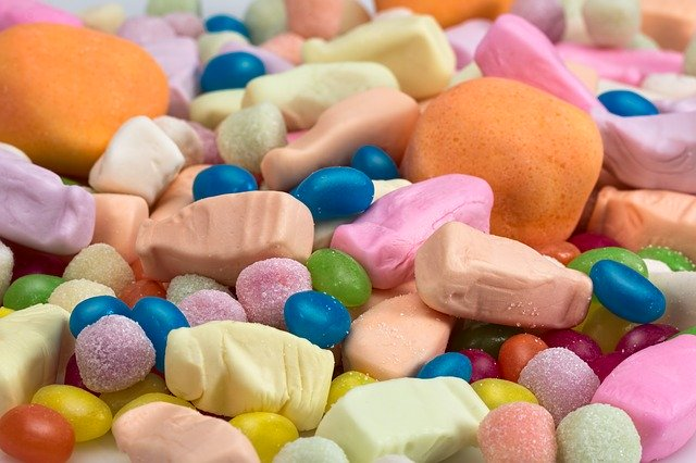 Close-up of sweets