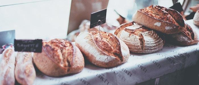 Bread at a market
