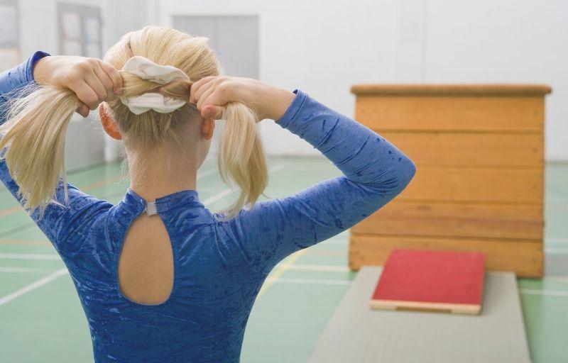 Girl performing gymnastics
