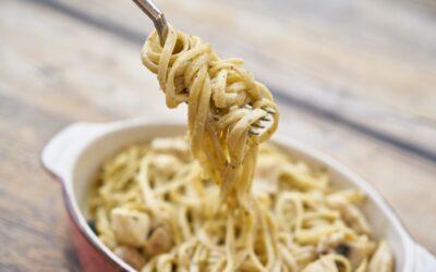 Simple salmon spaghetti