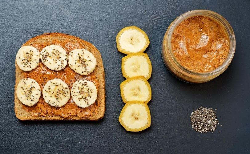 Banana rye bread sandwich