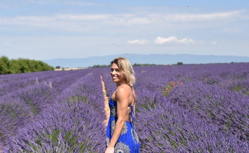 Audrey Archambault in lavender field