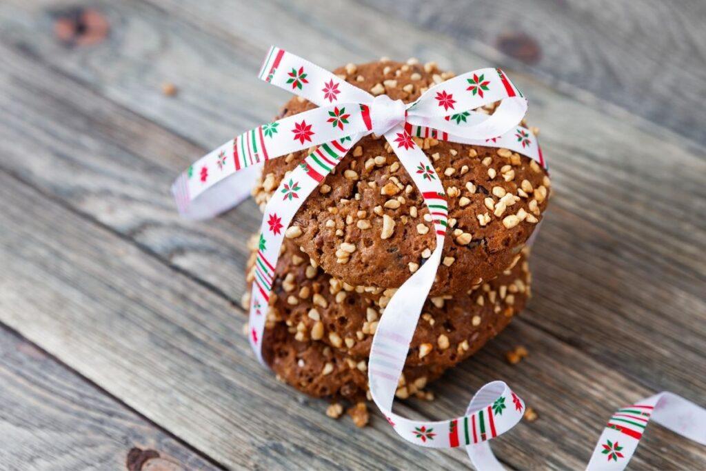 Christmas oat cookies
