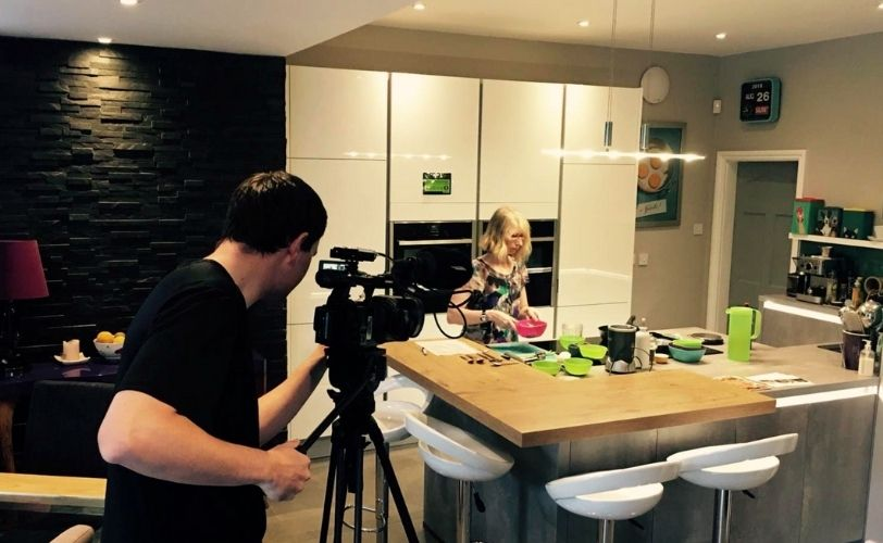 Susan hart cooking on local TV