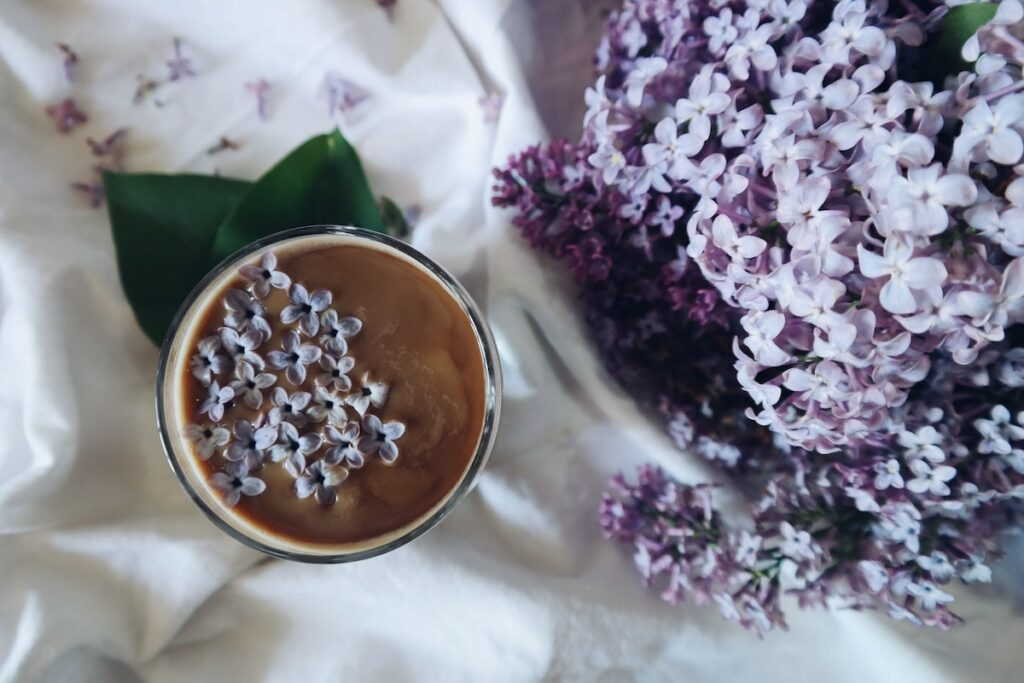 A cup of tea with lavender