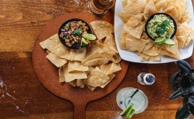 Tortilla chips and dip