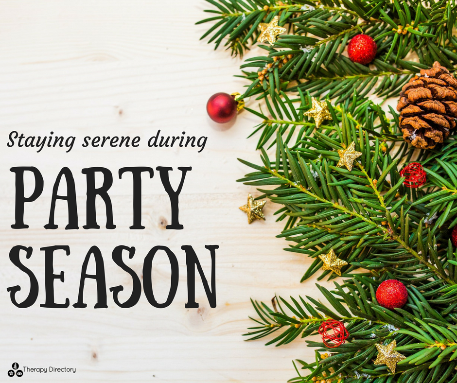 Staying serene during party season