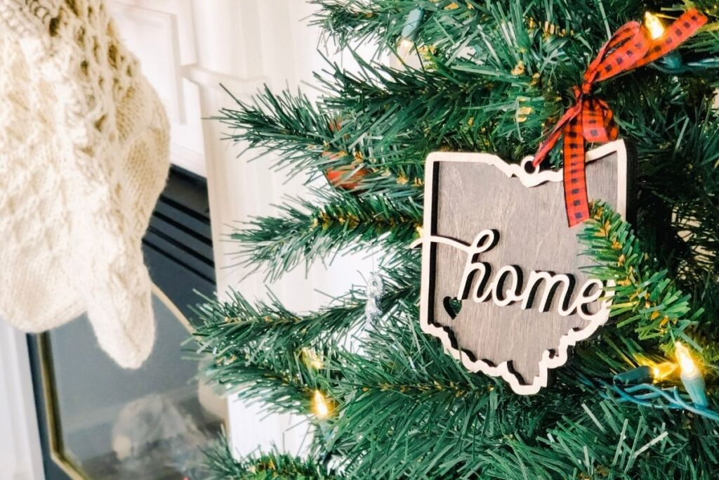 Christmas tree with home decoration