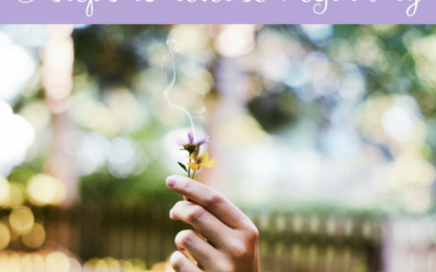 Five steps to release negativity