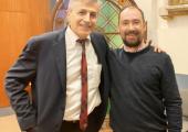 Dr. David Grand with Chris Rudyard