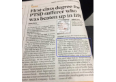 Evening Standard 13.11.2017 - Credit for work with a client experiencing PTSD