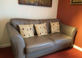 Sofa in counselling room