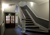Stair case from Reception up to first floor