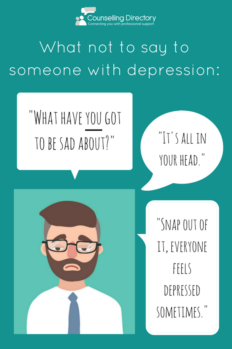 What not to say: Depression