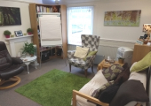 Therapy Room - A calm, peaceful, private space.