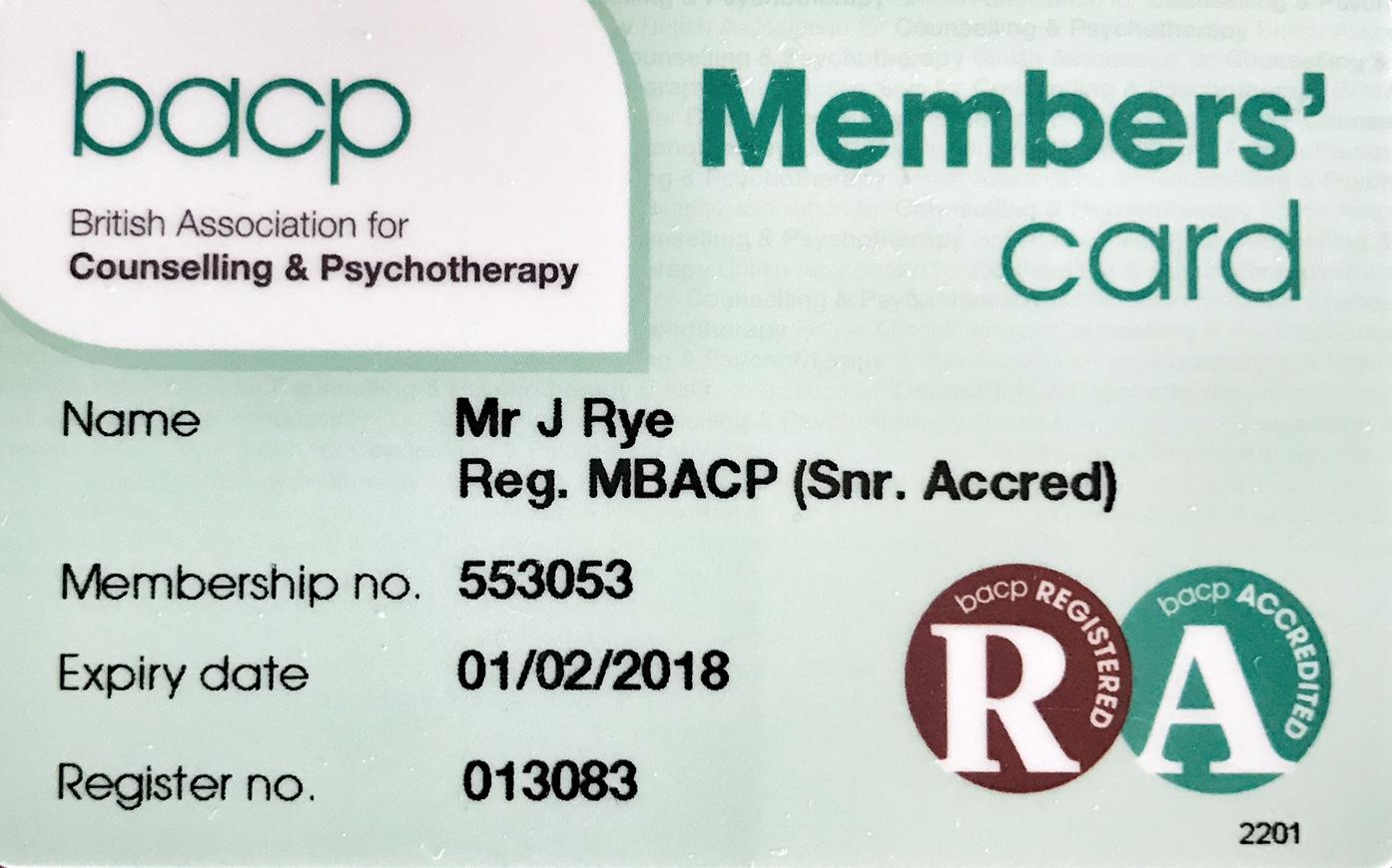 BACP membership card