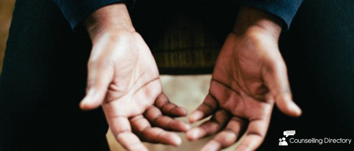 close-up of a mans hands