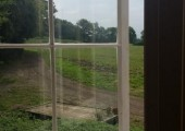 View from Shepherds Hut on farm at Penn...