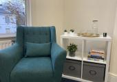 A quiet corner in our Edgbaston therapy room.