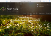 My website home page - You can find more about me on my website - www.karenyoungcounselling.co.uk