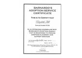 Barnardo's Adoption Service Certificate