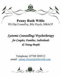 Penny Ruth Willis -  PG Dip CounsPsy, BSc (Hons), MBACP